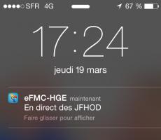 Les brèves sur l'application eFMC-HGE