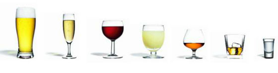 Un verre standard d'alcool (10 grammes d'alcool pur) est, au moins en France, une dose de bar